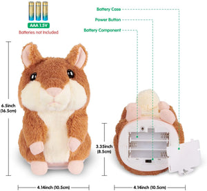 Kids Toys Talking Hamster Repeats What You Say