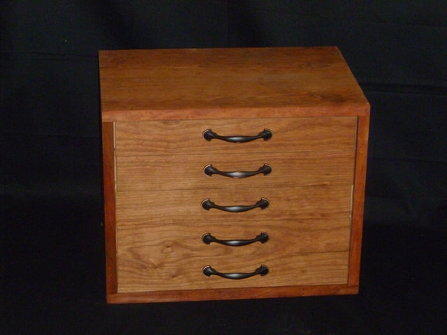 5 Drawer Sacristy Chest - Cherry