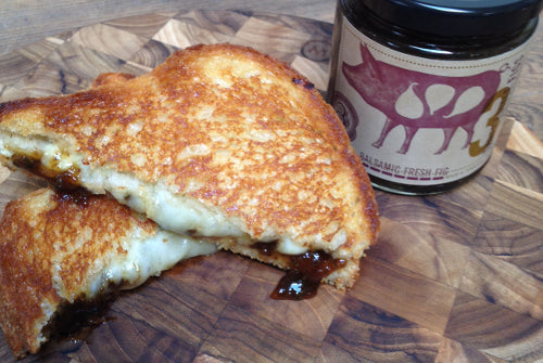 Balsamic Fresh Fig and Fontina Grilled Cheese