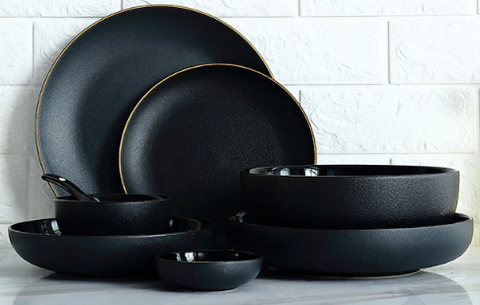 Black Gold Ceramic Dinnerware