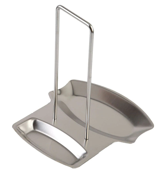 Stainless Steel  Pot Lid Rack & Spoon Stand Holder