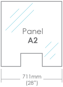 "Panel A2 - 28"" x 30"" (with slot)-SD Shield-SocialDistancingPPE"