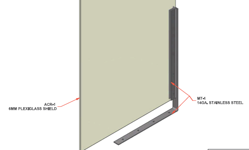 L-Shaped Under Table Bracket-SD Shield-SocialDistancingPPE