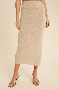 Opal knit skirt | Beige