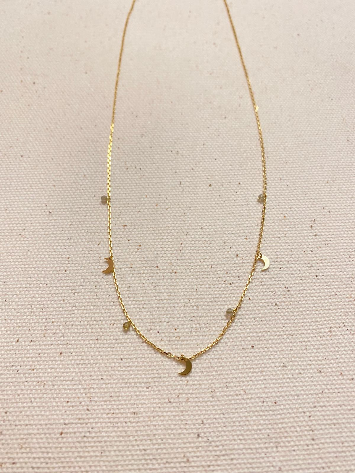 Dainty Moon Charm Necklace