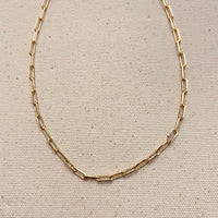 Dainty Oval Paperclip Chain Necklace