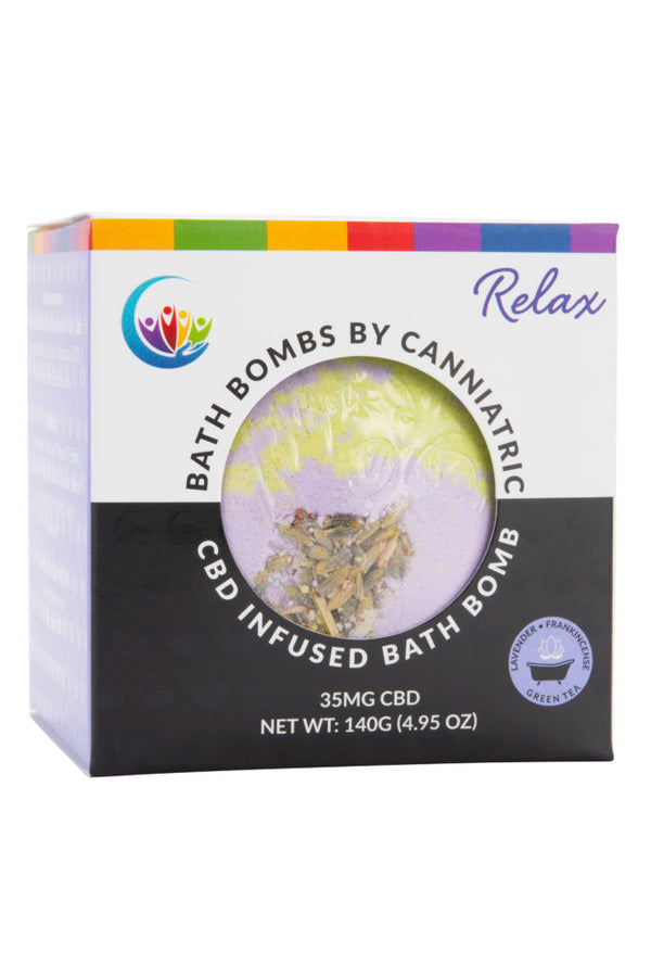 Canniatric CBD Infused Bath Bomb – Relax