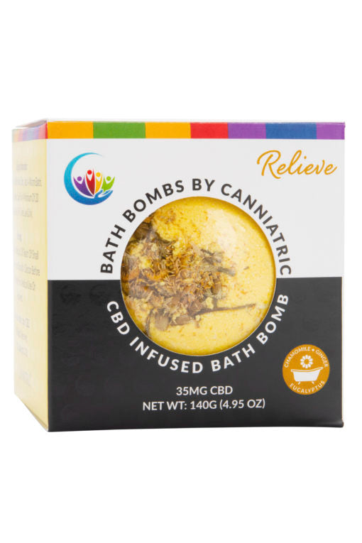 Canniatric CBD Bath Bomb – Relieve
