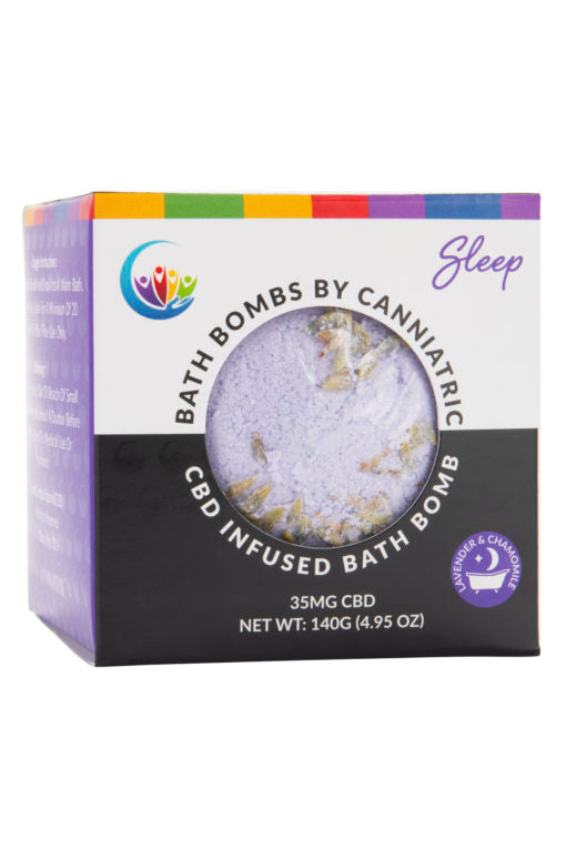 Canniatric CBD Infused Bath Bomb – Sleep