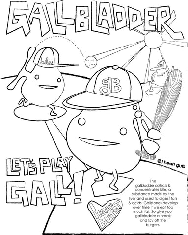 Gallbladder Coloring Page I Heart Guts