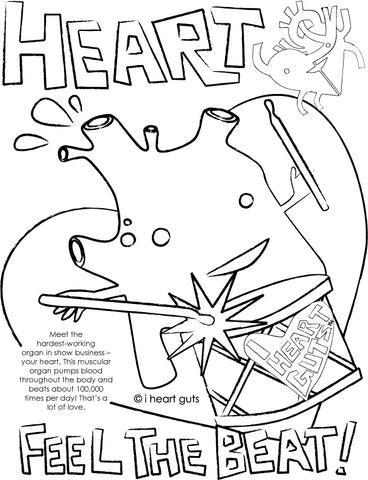 childrens anatomy coloring pages - photo#35