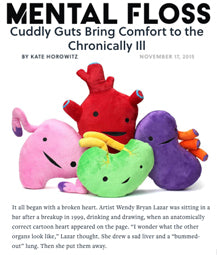 Cuddly Guts Bring Comfort to the Chronically Ill