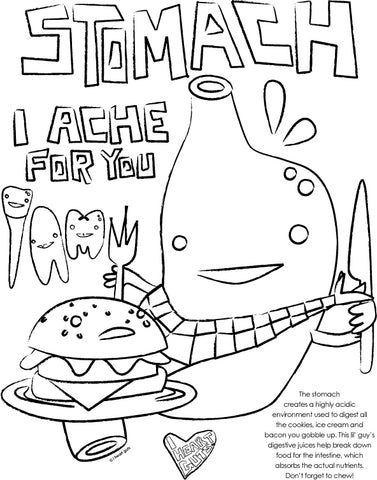 Stomach Coloring Page