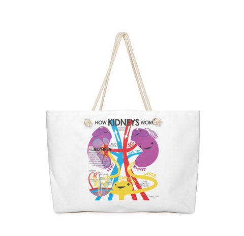 Kidney bag - kidney tote - dialysis tote - kidney donor gift