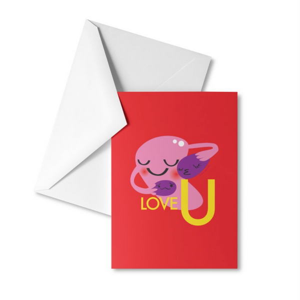 Uterus Greeting Card