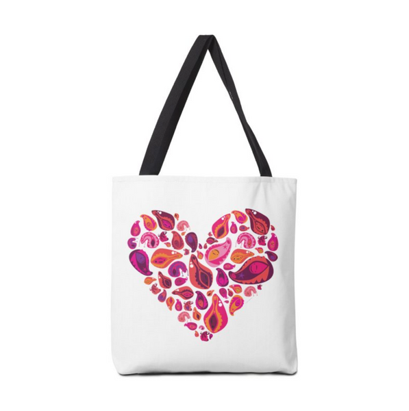 Vagina Vulva Tote Bag Womens Sexual Health