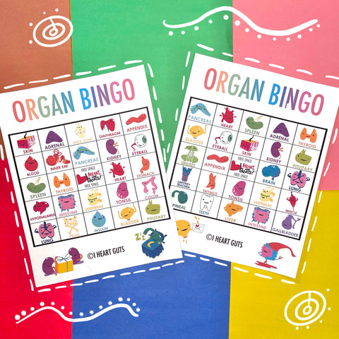 Organ Bingo Cards