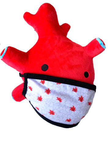 I Heart Guts Heart Plush Heart Stuffed Animal Anatomical Plush Heart