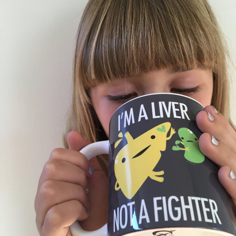 I'm a Liver Not a Fighter Mug