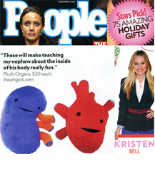 People Magazine Holiday Gift Guide Plush Organs Kristen Bell