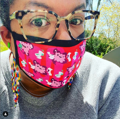 samantha irby author face mask