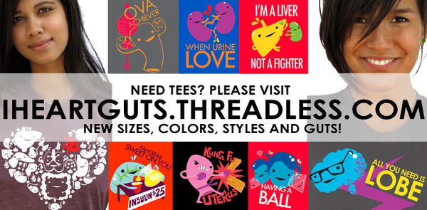I Heart Guts T-shirts