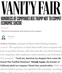Vanity Fair - Hundreds of Companies Beg Trump not to Commit Economic Suicide