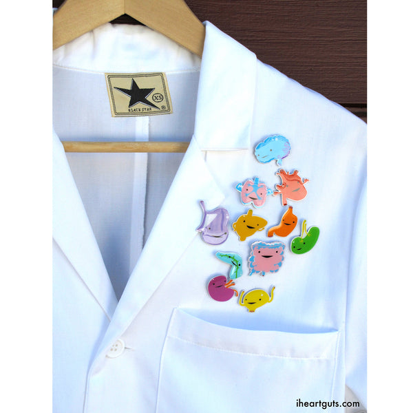 White Coat Doctor Pins and Decor