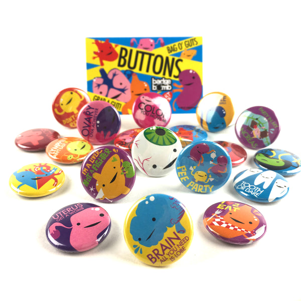 Guts Variety Collection - 20 Buttons