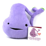 Gallbladder Plush - You've Got Gall! - Plush Organ Stuffed Toy Pillow