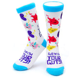 Go With Your Guts - Light Blue Multicolor - Lung Liver Kidney Heart Socks