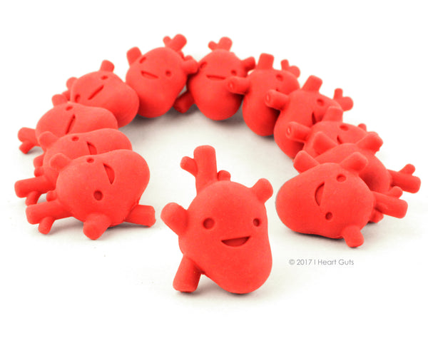 All Heart Erasers - Bag of 12