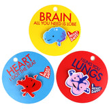 *NEW* - Pin Set of 3 - Heart, Brain and Lung Lapel Pins