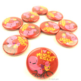 Love My Menstrual Cycle Uterus Buttons - Set of 10