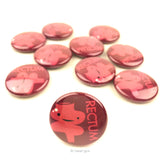 Rectum Buttons - Set of 10