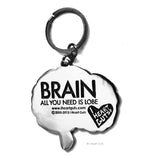 Brain Keychain - All You Need Is Lobe