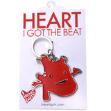 Heart Keychain - I Got the Beat