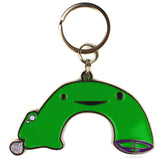 Green Penis Keychain - Stand and Deliver