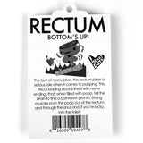Rectum Keychain - Bringing up the Rear