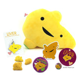 Liver Plush - I'm a Liver Not a Fighter - Plush Organ Stuffed Toy Pillow