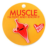 Muscle Lapel Pin - I'm Flexy and I Know It