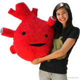 Super Big Oversized Huge Heart - Stuffed Gigantic Huggable Heart Plush Organ Pillow