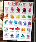 I Heart Guts Plush Poster