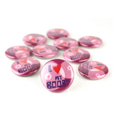 Love My Boobs Buttons - Set of 10