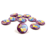 Love 2 Read Brain Buttons - Set of 10