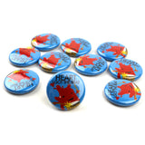 Heart I Got The Beat Buttons - Set of 10