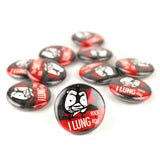 Lung Rock N Roll Buttons - Set of 10