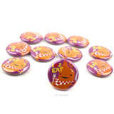 Love 2 Eat Stomach Buttons - Set of 10