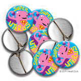 *NEW* Super Uterus Buttons - Set of 10