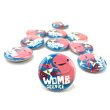 Uterus Womb Service Buttons - Set of 10
